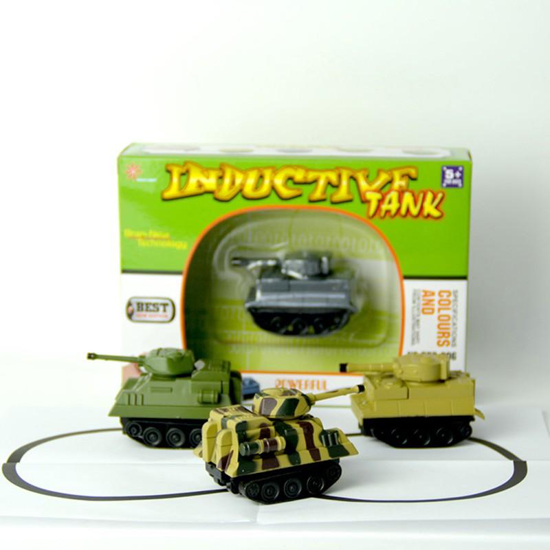 truck children inductive figure tank car pen draw lines induction rail