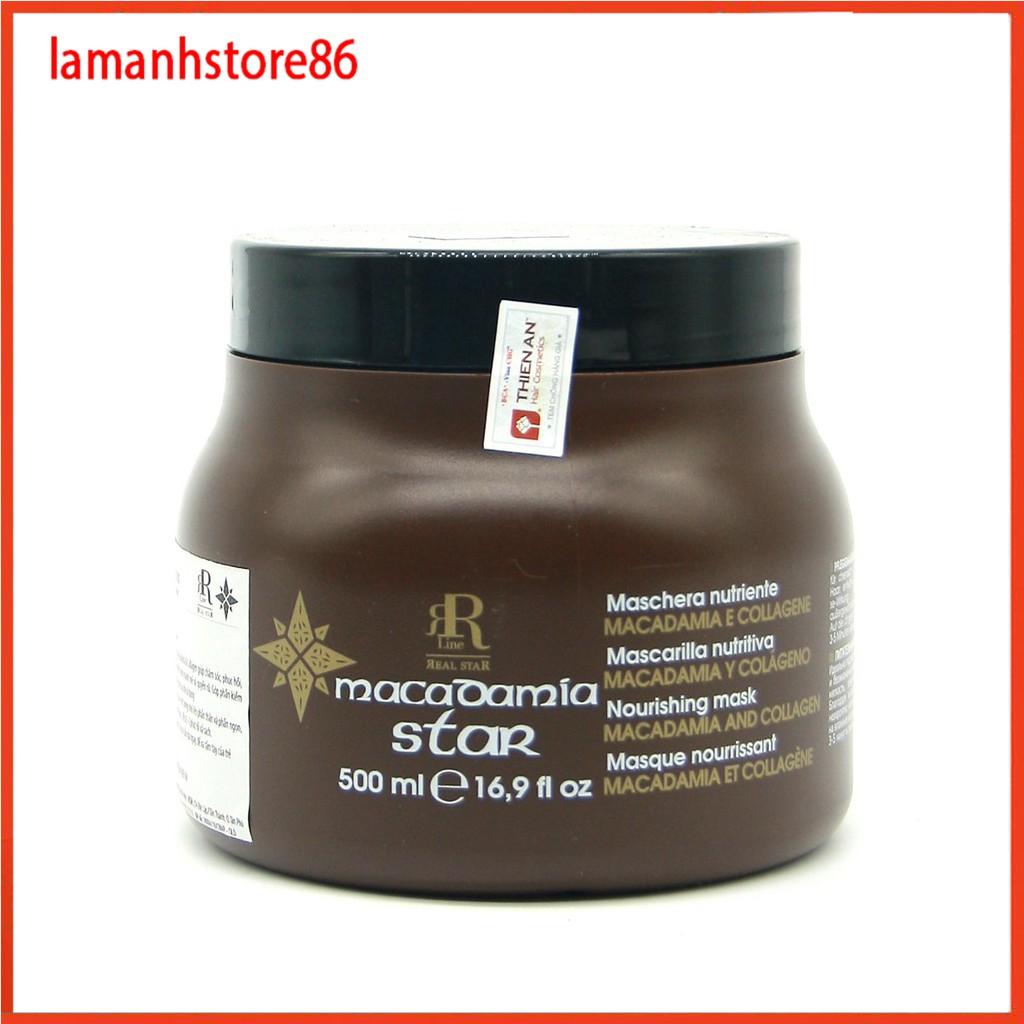 Ủ tóc hấp phục hồi tóc kem hấp hấp tóc MACADAMIA STAR hũ 500ml - 1000ml hàng chính hãng