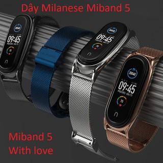 [ Miband 3 4 5 ] Dây miband5 , Dây Miband 5 Mjiobs, Dây mắt lưới, Dây Đeo Kim Loại, Dây Milanese , Dây Thay Thế thumbnail
