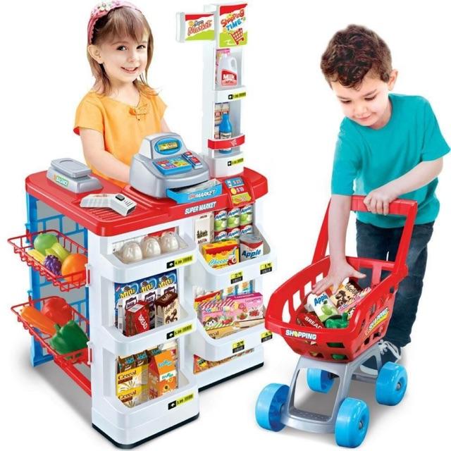 Bộ đồ chơi siêu thị kèm xe đẩy cao cấp