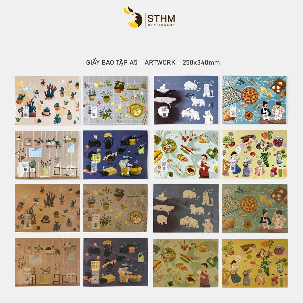 Giấy bao tập A5 - Artwork - STHM stationery