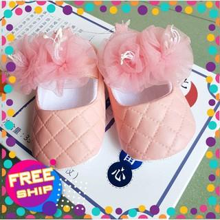 [FREESHIP] 🌺Giày hoa 🌺siêu mềm & nhẹ cho bé gái từ 6 tháng đến 18 tháng