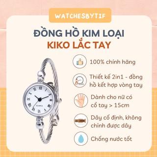 [KÈM VIDEO] Đồng hồ nữ lắc tay KIKO số la mã mặt trắng
