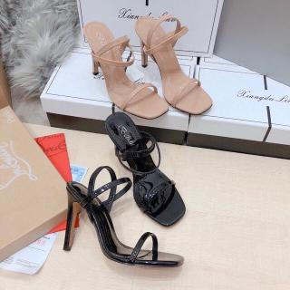 Sandal Gót 9 Phân 2 Màu Quai Chun