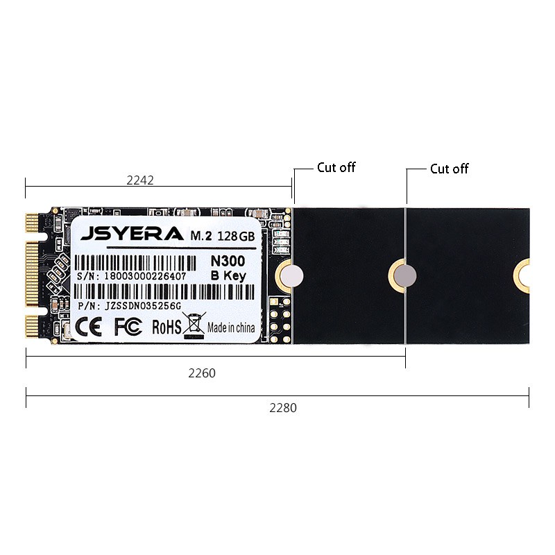 Card Chuyển Đổi Giao Diện Jsyera 128gb Ngff M.2 Ssd 2280 B Cho Máy Tính / Laptop