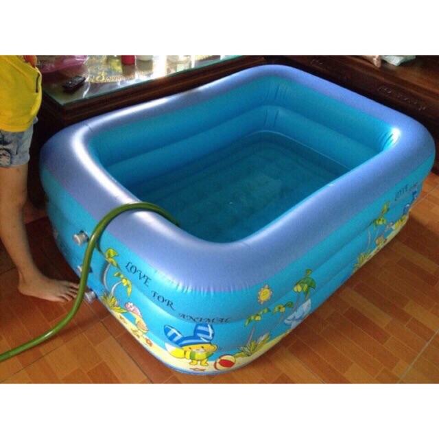 Bể bơi 3 tầng 1.5m kèm phao cổ