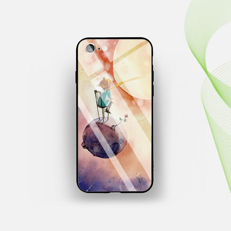 Ốp điện thoại kính cường lực in hình The Little Prince cho Iphone 6/6s/6+/6s+/7/+/8/+/X/Xr/Xs/Max