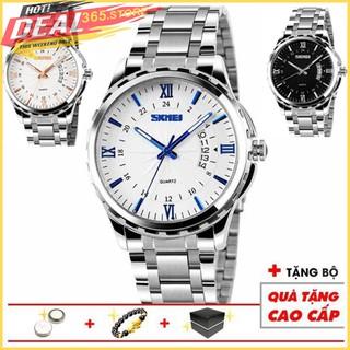 Đồng hồ nam SKMEI thiết kế tinh tế siêu đẹp dây thép không gỉ chống nước tốt SKM069