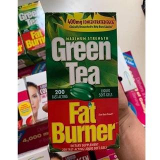 [ 2022] Viên Uống Giảm Cân Trà Xanh Green Tea Fat Burner 400mg 200 Viên (Chuẩn Hàng Mỹ) thumbnail