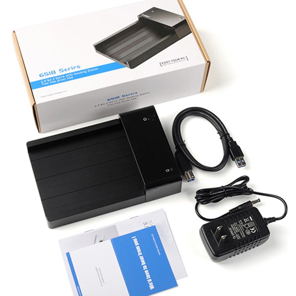 Dock ổ cứng 3.5 inch chuẩn SATA USB3.0 6518US3- bảo hành 06 tháng Giá chỉ 439.000₫