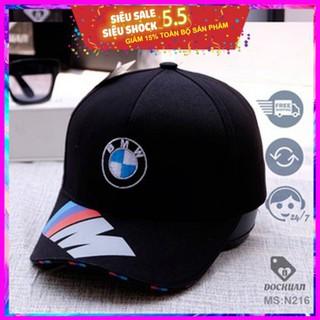Mũ lưỡi trai, Nón Kết BMW logo tròn chữ ở kết màu chất vải tốt, Unisex dành cho nam và nữ nóng