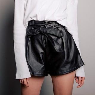 Là min - Quần Da High-rise Leather Shorts thumbnail