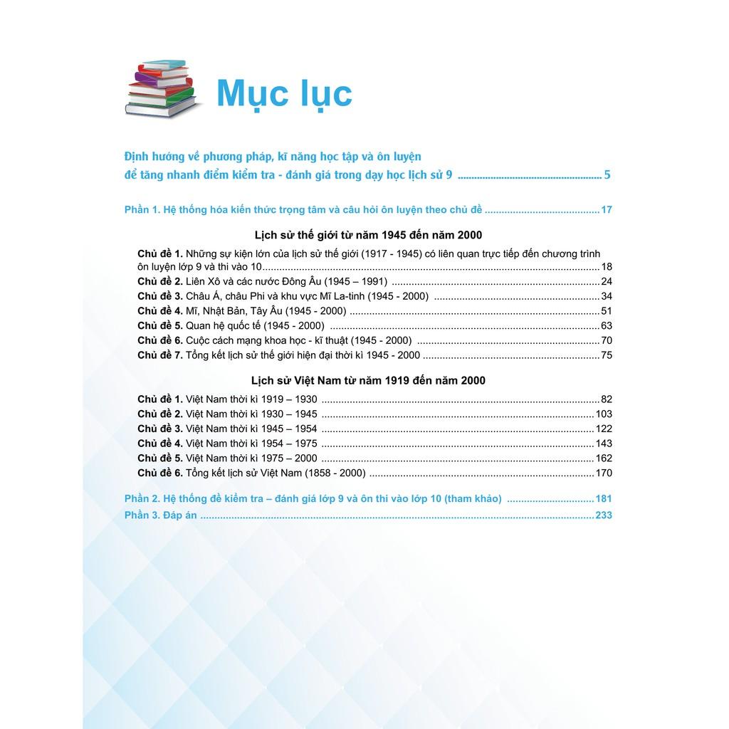 Sách - Bí quyết tăng nhanh điểm kiểm tra môn Lịch Sử 9