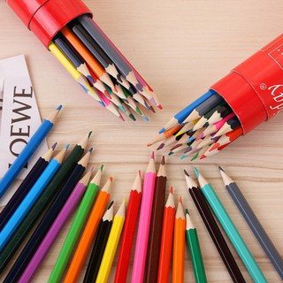 💕Se7en 18pcs/box Children Colorful Drawing Pencil Cartridge Painting Pictures