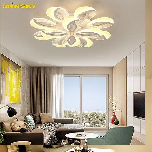 Đèn trần MONSKY MIYITA kiểu dáng hiện đại trang trí nội thất sang trọng với 3 chế độ ánh sáng  - kèm điều khiển từ xa.