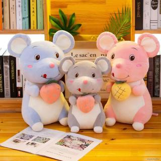 Children baby plush mouse cartoon animal toy new year gift mascot soft cute doll boy girl