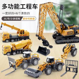 Construction Cars Trucks Toys Excavator Model Car Vehicle Sets ABS Construction Engineering Vehicle Children Boys Gift