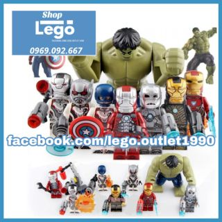 Xếp hình Iron man Captain America MK5 MK1 MK41 MK50 Ant Man Avengers Endgame Lego Minifigures Lele D165 d172 thumbnail