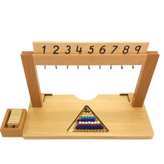 Giá treo các chuỗi hạt màu từ 1 đến 9 giáo cụ Montessori