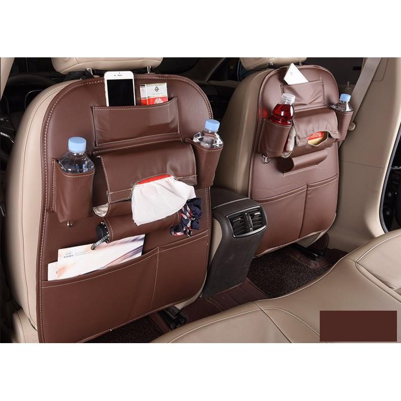 Túi đựng đồ đa năng đeo lưng ghế ô tô ( túi da)
