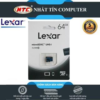 [Mã ELFLASH5 giảm 20K đơn 50K] Thẻ nhớ MicroSDXC Lexar 64GB Class 10 U1 100Mb/s (Xanh)