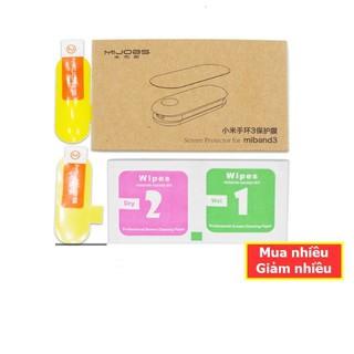 [bán sỉ] Bộ miếng dán màn hình cho Xiaomi Mi Band 2 (1 bộ 2 miếng + khăn lau ướt khô) chính hãng MIJOBS