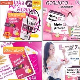 Date mới Kích trắng vỉ 10 viên Alpha Arbutin 3 PLUS (NEW)chính hãng có tem check code thumbnail