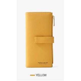 [Rẻ Vô Địch] VÍ DÀI CẦM TAY ĐẸP phong cách Hàn Quốc Màu Vàng xinh xắn thumbnail