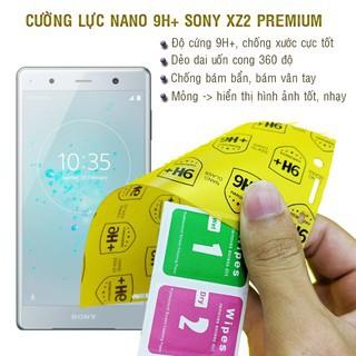 Cường lực Sony XZ2 Premium Cường lực Nano Dẻo 9H+ tặng dán camera