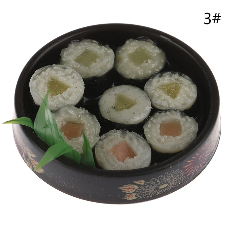 [warmhome]1Pc 1/6 Dollhouse Miniature Janpanese Sushi Rice Roll For Dolls Pretend Food Toy