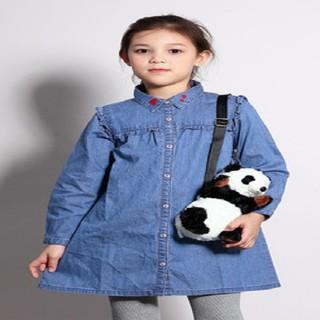 Đầm bé gái chất vải denim thời trang Bossini 344307000