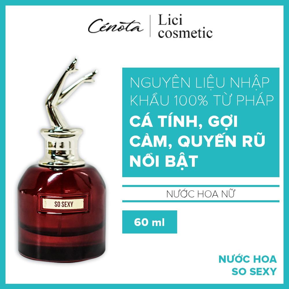 Nước hoa nữ Cénota So Sexy 60ml, nước hoa nữ lưu hương lâu, quyến rũ