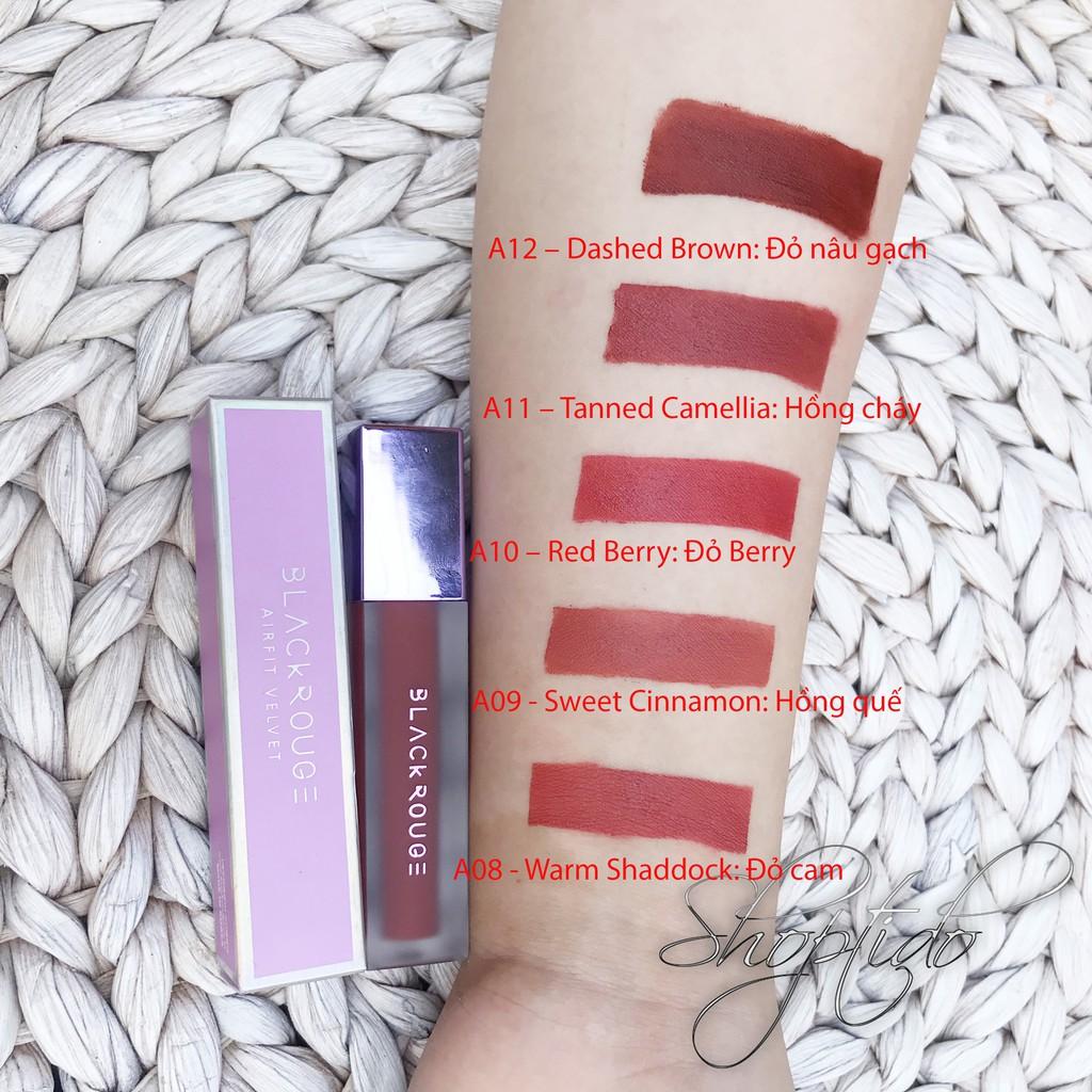 Son kem lì Black Rouge Air Fit Velvet Tint 1, 2,3 chính hãng Hàn Quốc