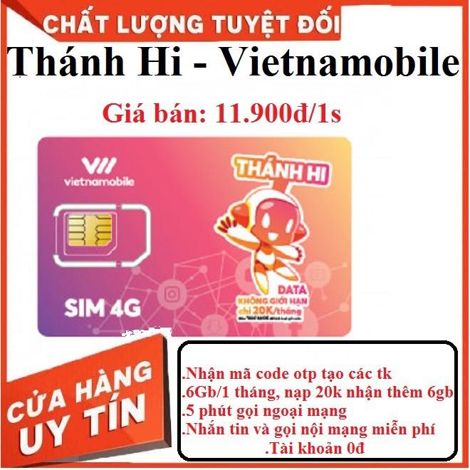 Sim vietnamobile gói cước thánh hi 6gb 1 tháng nhận mã cod