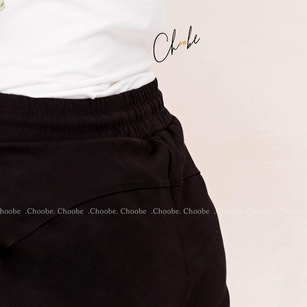 Mặc gì đẹp: Dáng chuẩn với Quần jogger nữ Choobe dáng dài thun cạp chun cá tính thể thao tập gym sọc to Q17