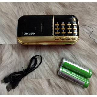 FREE SHIP_LOA CẮM USB, THẺ NHỚ, FM CRAVEN CR-836S