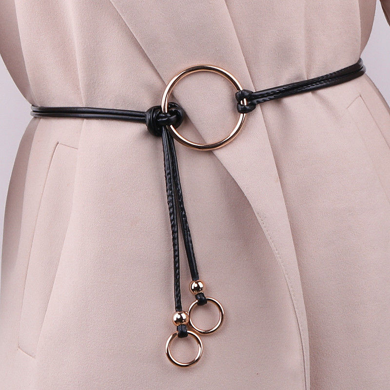 -Bfya-Waist - Dress waist chain fine belt skirt waist rope Simple wild Korean version of the rope decorative ring skirt ring ladies