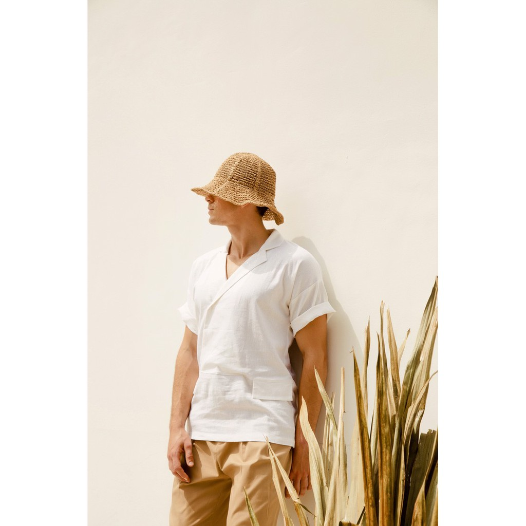 Quần kaki nam màu beige Can De Blanc