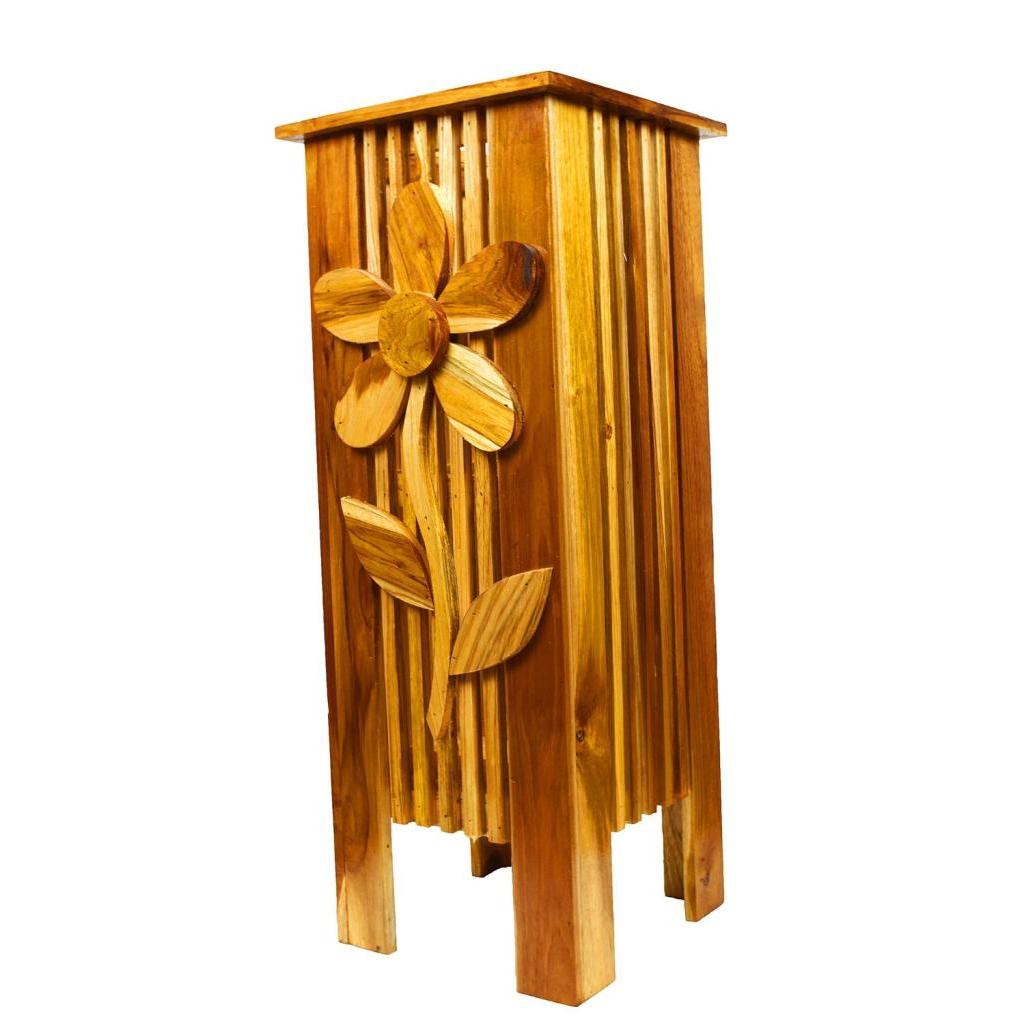 ที่เก็บไม้กวาด ลังไม้ ไม้สัก กล่องไม้ ทรงสูง ใส่ร่ม ใส่ ไม้กวาด ไม้เท้า หรือใส่วัตถุ ทรงยาว ผลิตจาก ไม้สัก สีลายไม้ธรรมช