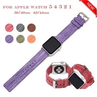 Dây Đeo Nylon Họa Tiết Rằn Ri Cho Đồng Hồ Thông Minh Apple Watch Se 6 5 4 Kích Thước 40mm 44mm 38mm 42mm