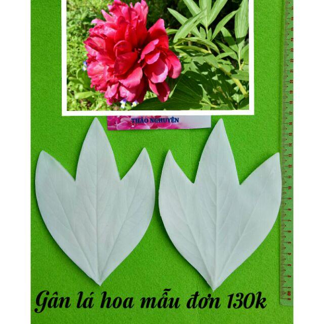 Gân silicone lá hoa mẫu đơn