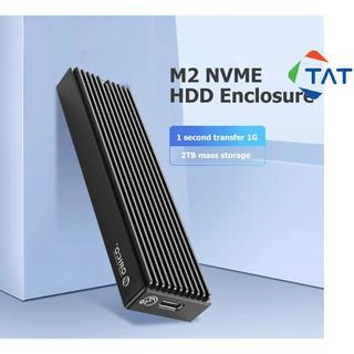 Box Ổ Cứng SSD M.2 NVMe PCIe ORICO M2PV-C3 Chuẩn Kết Nối USB 3.1 Type-C (Biến SSD M2 NVMe thành ổ cứng di động) thumbnail