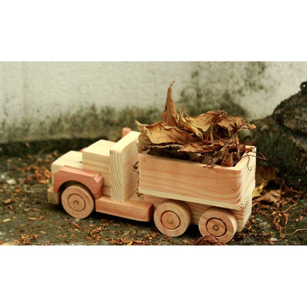 Đồ chơi gỗ phát triển trí tuệ Đồ Chơi Gỗ Xe Ô Tô Tải – Xe Thùng Đồ Chơi Gỗ