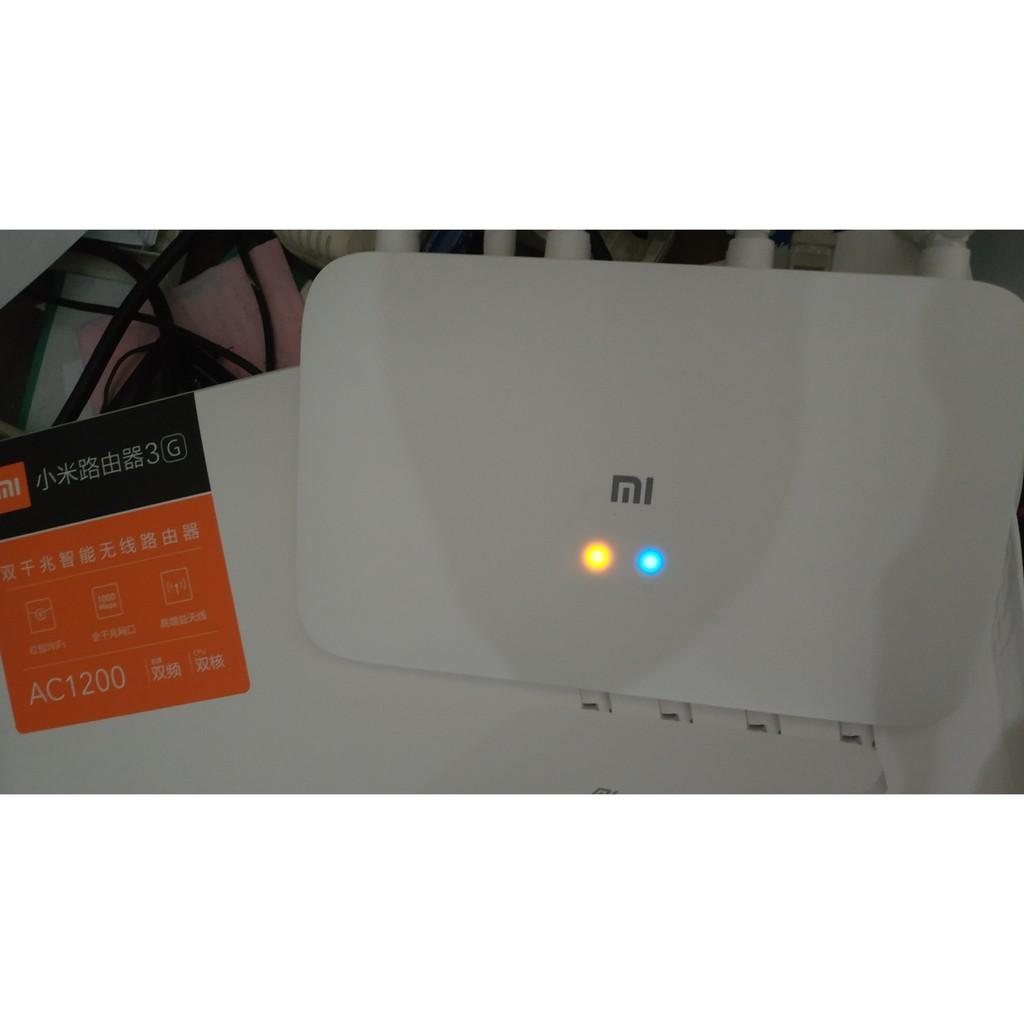 Bộ phát Wifi Xiaomi Router Gen 3G Ver 2 mới nhất 2019, AC1200 với 2 băng tần sóng 2.4GHZ và 5GHZ, Rom 128MB, Ram 128MB