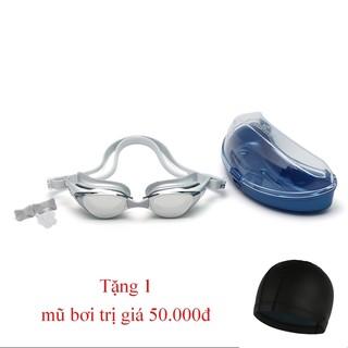 [Combo 2] Combo kính bơi tráng gương chống tia UV kèm mũ bơi Shenyu KB 1025