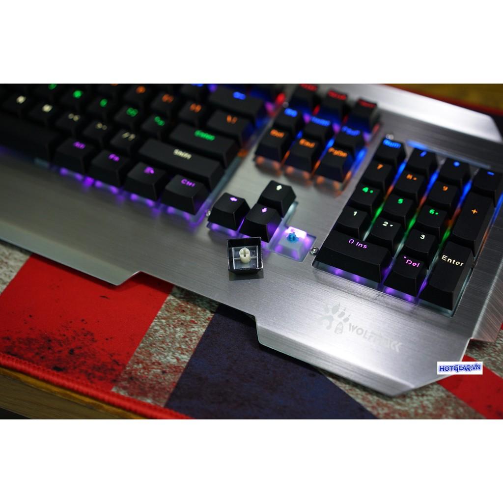 Bàn phím cơ WolfTrack Chính Hãng Rainbown LED ( Kailh Blue Switch ) - 10030884 , 218957982 , 322_218957982 , 1490000 , Ban-phim-co-WolfTrack-Chinh-Hang-Rainbown-LED-Kailh-Blue-Switch--322_218957982 , shopee.vn , Bàn phím cơ WolfTrack Chính Hãng Rainbown LED ( Kailh Blue Switch )