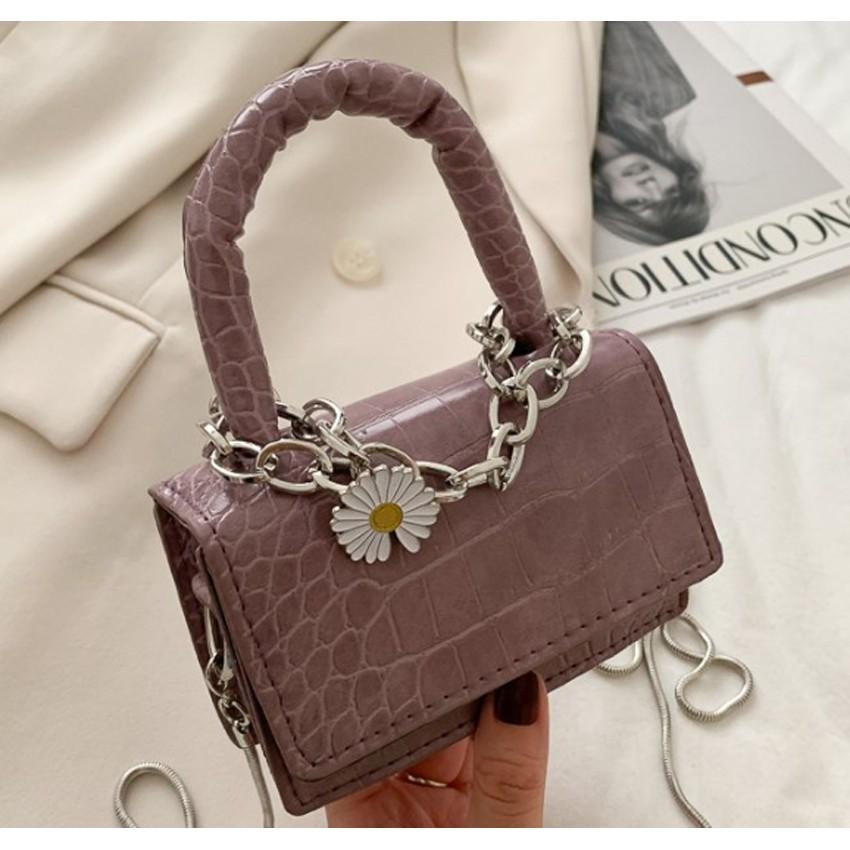 Túi xách nữ, túi đeo chéo, túi mini hoa cúc HOTTREND GR 439
