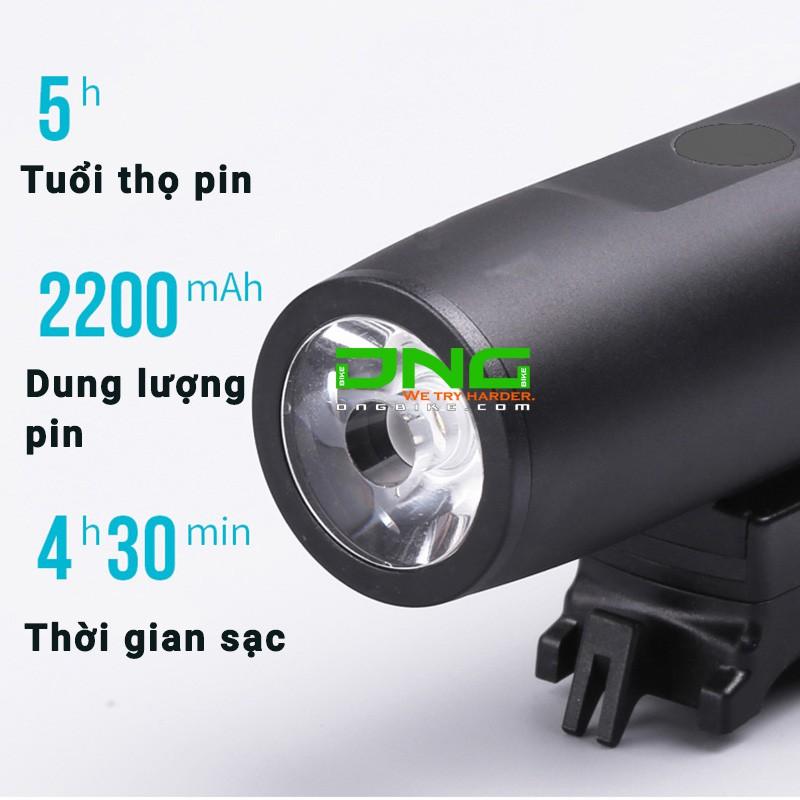 Đèn pha xe đạp pin sạc USB TX 300 cho các dòng xe đạp đua hay xe đạp touring