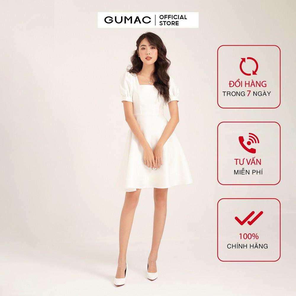 Đầm ôm nữ GUMAC cổ U, form cúp ngực basic, đủ màu đủ size DB168