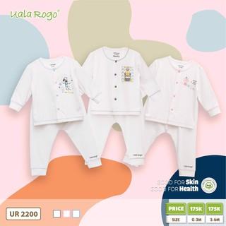 (UalaRogo) Bộ quần áo sơ sinh cúc giữa petit UR2200